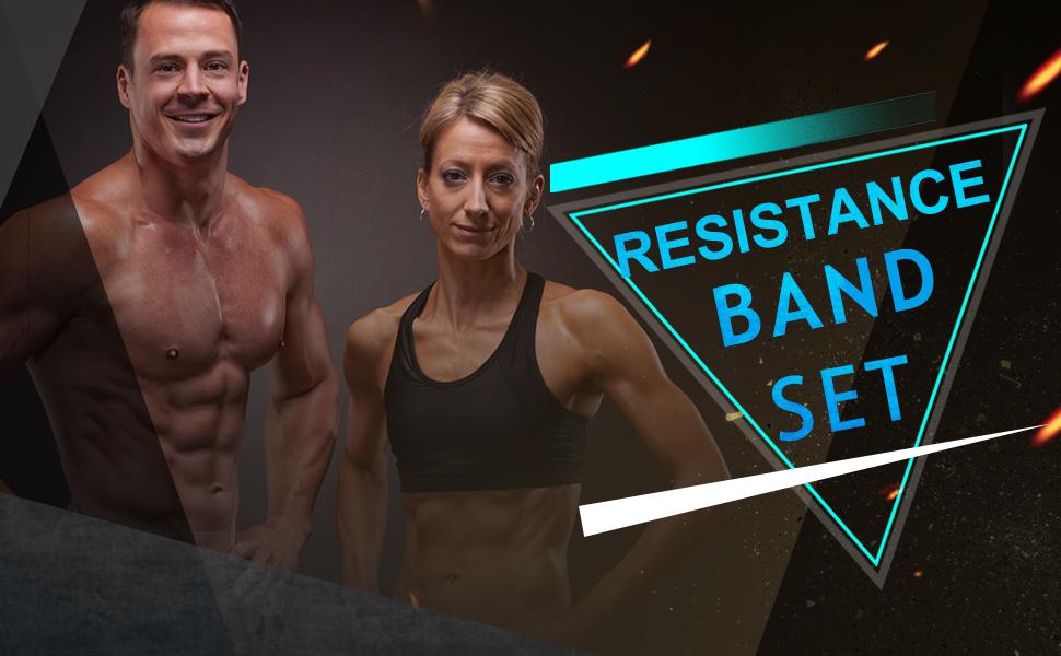 11 Pack Resistance Bands Set