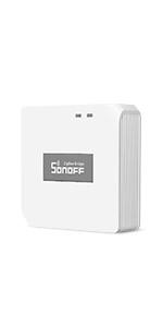 Permet de Cr/éer des Sc/ènes Intelligentes SONOFF SNZB-01 Interrupteur sans fil Zigbee D/éclencher les Appareils Connect/és sur eWeLink APP avec Trois Options de Contr/ôle-Pression Simple//Double//Longue