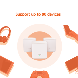 Supports up to 80 devices