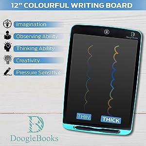 Colourful writing LCD board 12 inch