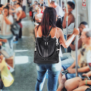 anti theft backpack purse