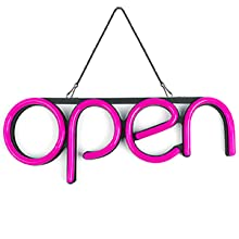 kunida designs led neon open sign storefront lights for business door closed outdoor waterproof