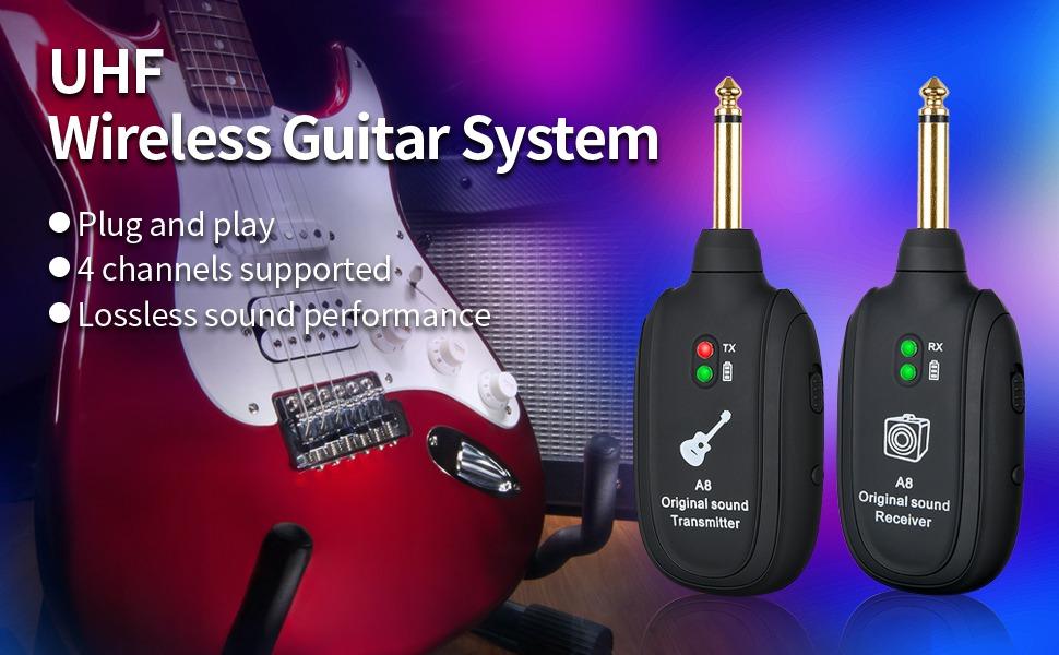 uhf wireless guitar system