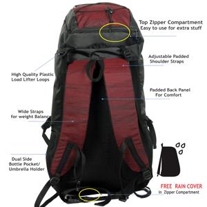 Polestar lightweight large backpack rucksacks hiking trekking travel luggage backpack bags