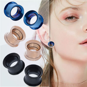 ear tunnels gauges stainless steel 2g 0g 00g 12mm 14mm 16mm 18mm 20mm 22mm 25mm