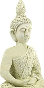 Bellaa 23608 Buddha Statues Meditation Outdoor Garden Decor Lucky Budha Japanese Zen Buddhist