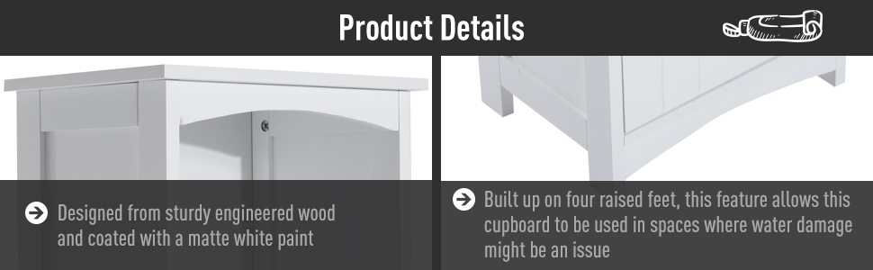 Tall Wooden Bathroom Cabinet