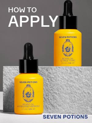 How to apply beard oil growth balm, grooming cream, soft beard, grooming kit