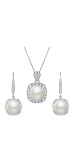 pearl jewelry set for wedding