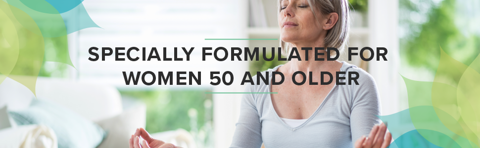 specially formulated for women 50 and over