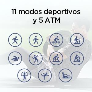 Seguimiento de 11 deportes incluida la natación