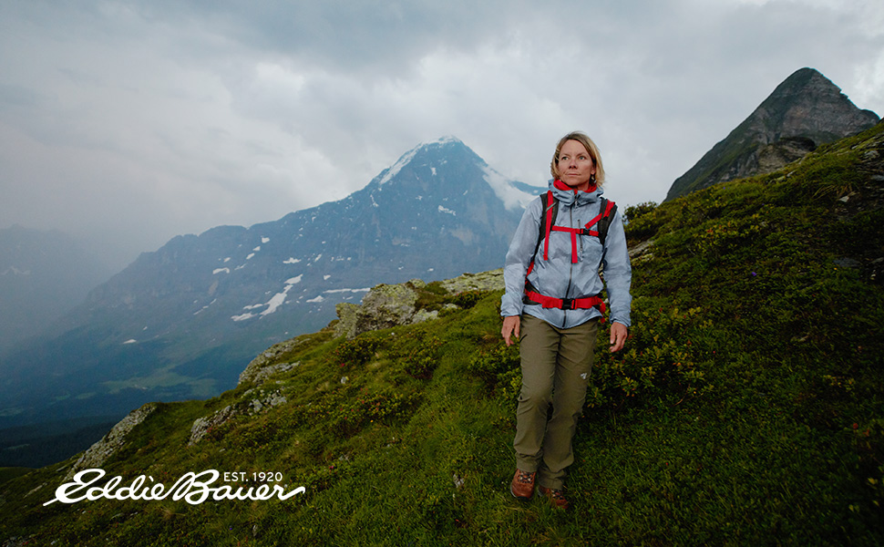 hiking with eddie bauer