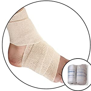 Bandages sprain inflammation ankle foot torn muscle ligament