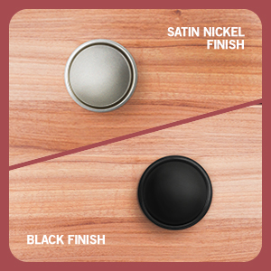 finished finish satin nickel black modern family minimalist