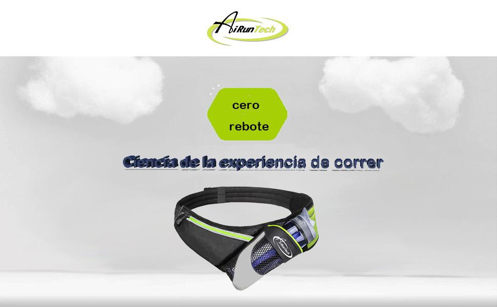 AiRunTech Cinturón de Correr para Botellas de Agua Bolsa Deportiva ...