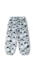 rain pants, fleece lined