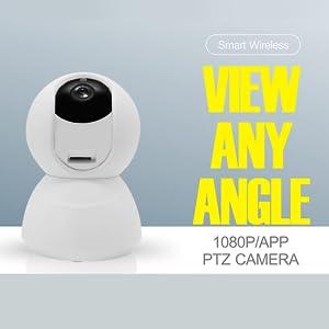 eco4life PTZ IP camera Full 1080 HD 360˚ view any angle