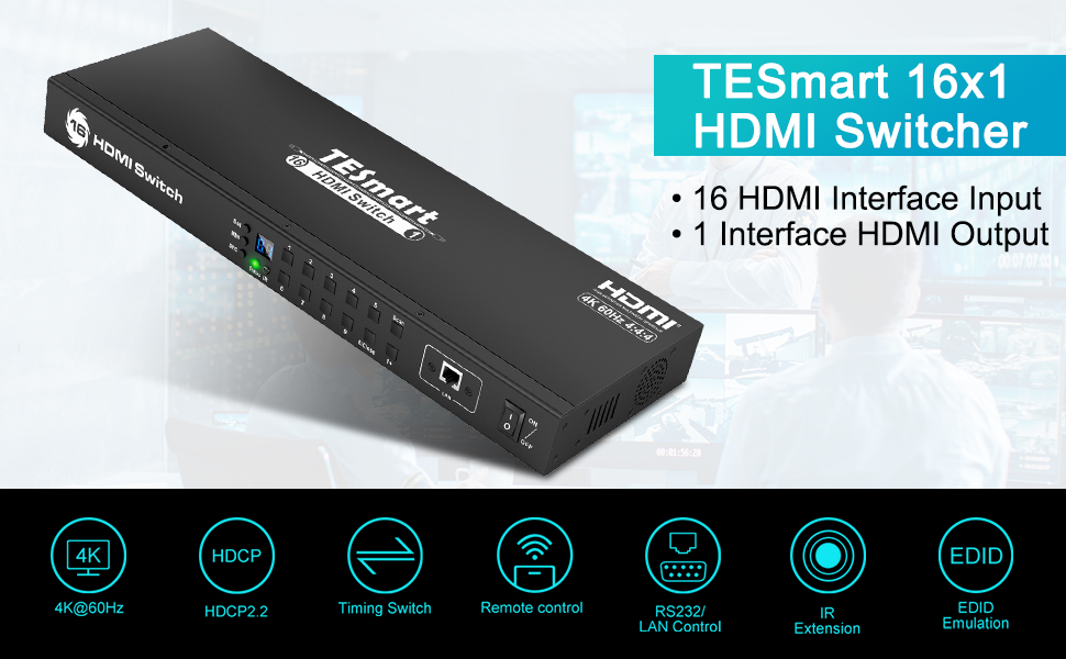 HDMI switch 16 ports