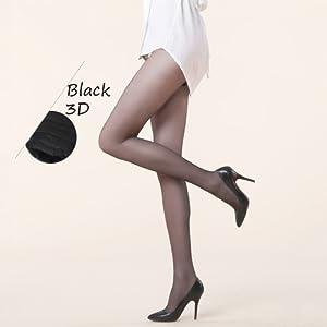 Schwarze Strumpfhose für Damen.