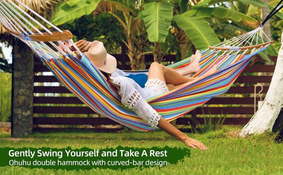 double hammock swing with tree straps portable hammock