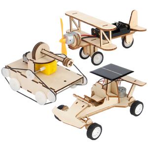 3d wooden puzzle solar power kit-4