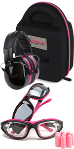 2 pack with pink safety glasses