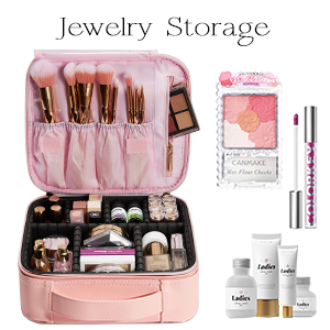 makeup bag with compartment