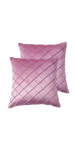 plaid velvet pillow cover