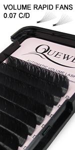Ellipse Flat Eyelash Extensions 0.15mm Curl D Length 8-15mm Mix Shine Black  0.15mm Curl C CC D DD Mix 8-15mm Single Length 8-18mm (0.15 D Mix)