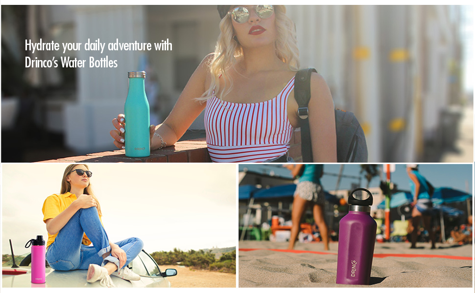 Insulated water bottle, stainless steel water bottles, water bottles, water bottle 32 oz 20 oz 24 oz