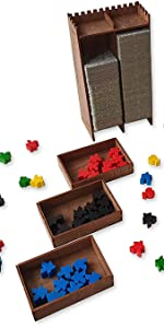 Carcassonne board game organizer made of wood by Smonex