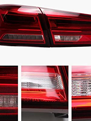Not Fit Sportbacks/ VLAND LED Tail lights for Mitsubishi Lancer EVO X 2008-2018 Red Clear YAB-YS-0155BHRC with Amber Sequential Turn Signal
