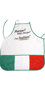 Aprons for the Italian Cook - Funny slogans and Beautiful Scenics