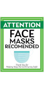 Face Masks Recommended Decal Thank You for Keeping Us Safe