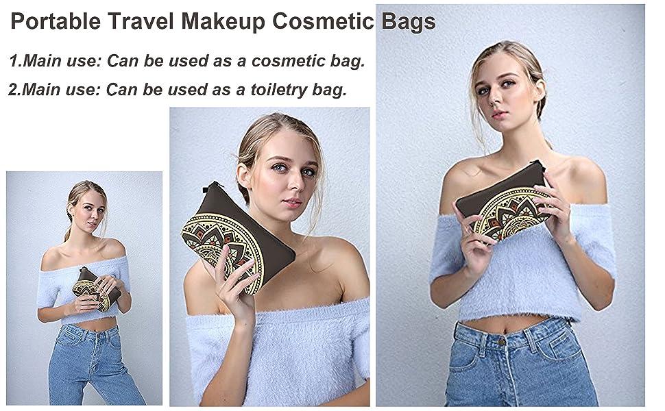 Travel Makeup Cosmetic Bag Organizer Multifunction Case for Women