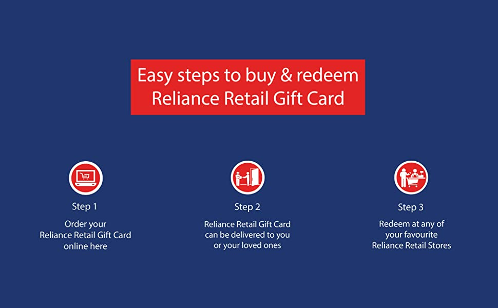 Steps To Redeem Buy and Reliance Retail Gift Card