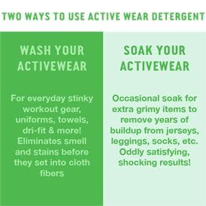 gym clothes detergent athletic rockin green sweat smell deodorizer