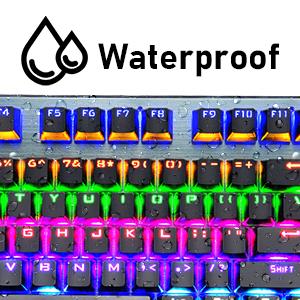 keyboard with waterproof function