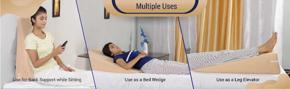 multiple use bed wedge