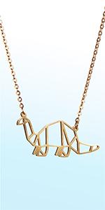 La menagerie geometric animal necklace origami animal necklace
