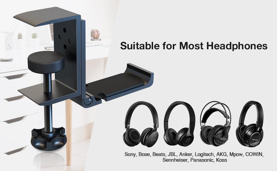 headphone hanger under desk clamp