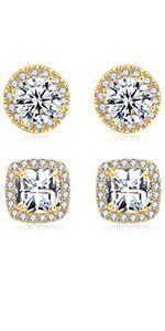 gold plated earrings,stud earrings,men earrings,gold earrings,earrings for men,cubic zirconia stud