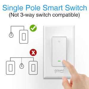 single pole smart switch, smart switch, smart light switch