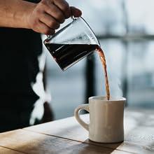 Ethiopian Yirgacheffe coffee pour