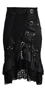 black matching skirt