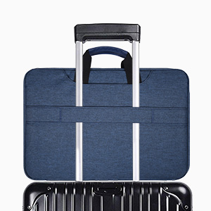 15.6 inch Laptop Briefcase with Luggage Belt