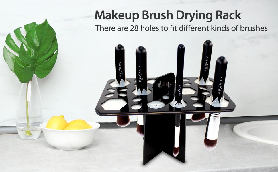 makeup brush drying rack