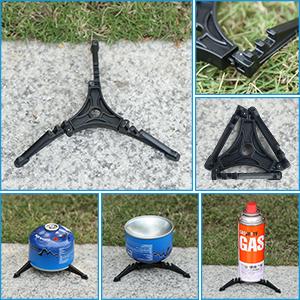 Awroutdoor Utensilios Cocina Camping Kit con Estufa Trekking, 1.2 L Ollas Camping y 0.6 L Sartén, Taza de Acero Inoxidable, Cubiertos Plegable - ...