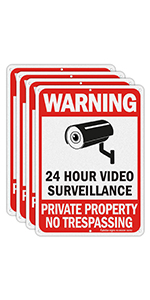 security signs for yard