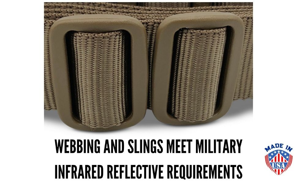 Military Sling With Proper Colors FDE and Coyote Brown Berry Sling USA Rifle
